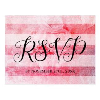 Postal rústica color de rosa vieja rosada