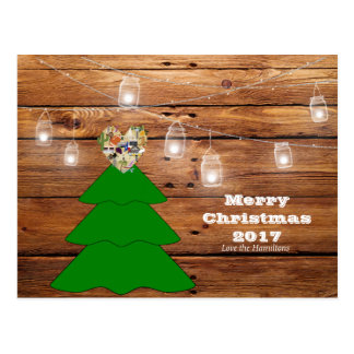Postal rústica de Tejas de las Felices Navidad