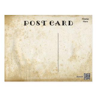 Postal Rústico envejecida DIY manchada antigüedad en