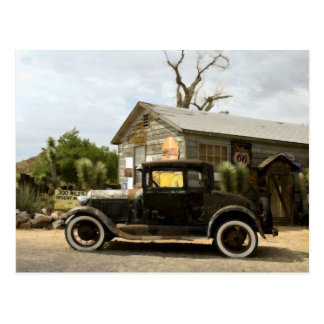 Postal Ruta 66 de la tienda general de la almecina