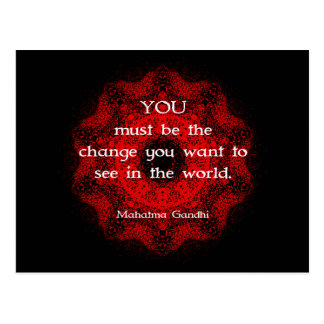 Postal Sabiduría de Mahatma Gandhi que dice sobre la