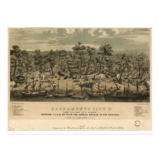 Postal Sacramento California en 1850
