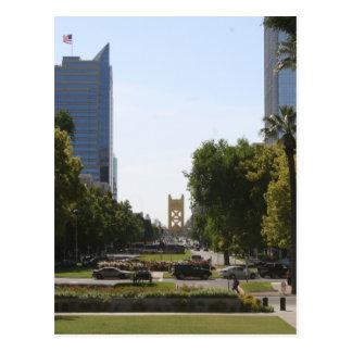 Postal Sacramento: Puente de la torre de la alameda del