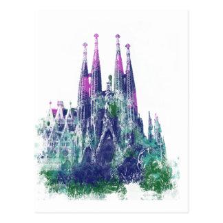 Postal Sagrada Familia Barcelona