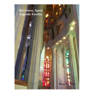 Postal Sagrada Familia Barcelona España