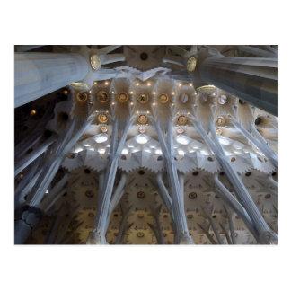 Postal Sagrada Familia. Interiores. calendario 2015