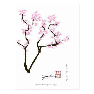 Postal Sakura con el goldfish rosado, fernandes tony