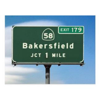 Postal Salida de Bakersfield