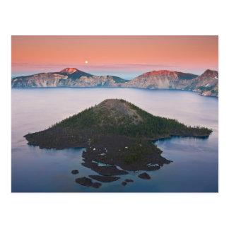 Postal Salida de la luna del lago crater