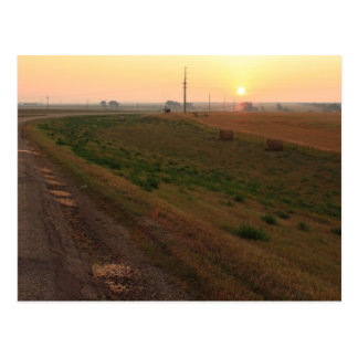 Postal Salida del sol de Dakota del Norte