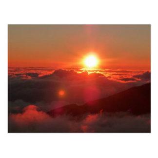 Postal Salida del sol de Haleakala