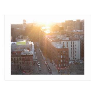 Postal Salida del sol de NYC