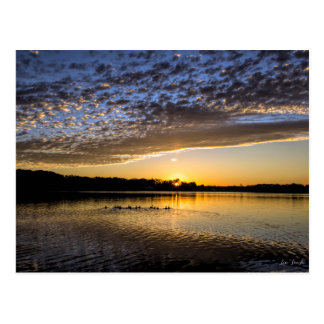 Postal Salida del sol de Winnemaug del lago