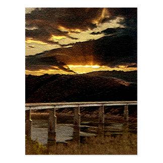 Postal Salida del sol del puente de California