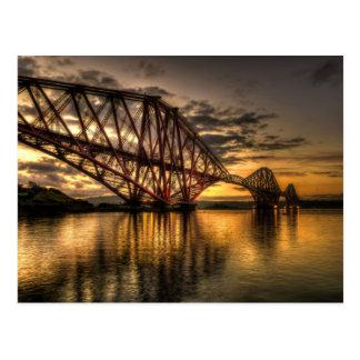 Postal Salida del sol en adelante el puente del carril