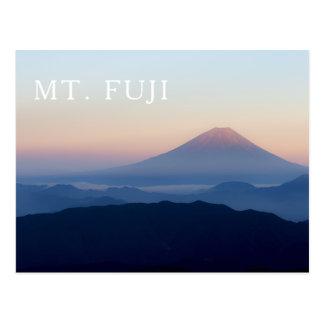 Postal Salida del sol Japón del monte Fuji
