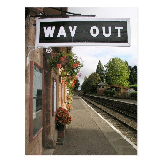 Postal Salida, estación Somerset de Crowcombe Heathfield