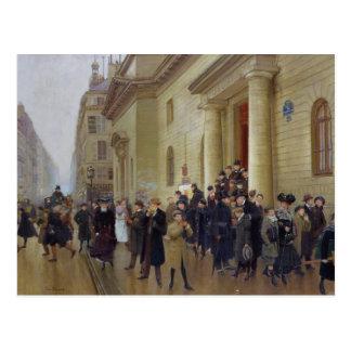 Postal Salir del licéo Condorcet, 1903