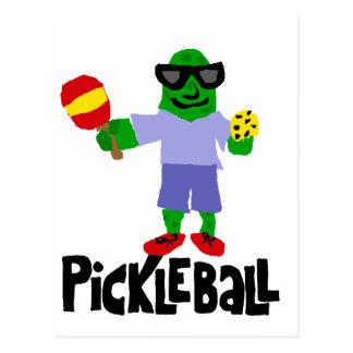 Postal Salmuera divertida con la paleta de Pickleball