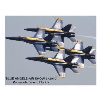 Postal Salón aeronáutico 7/2010 de los ángeles azules