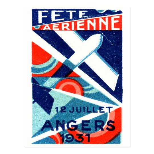 Postal Salón aeronáutico internacional francés 1931