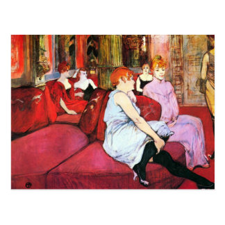 Postal Salón en la ruda de Moulins por Toulouse-Lautrec