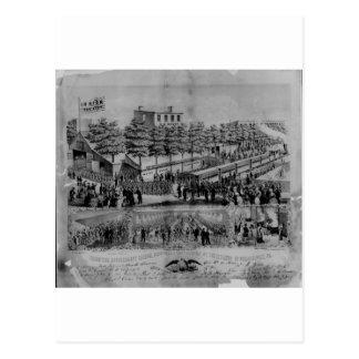 Postal Salón voluntario del refresco, guerra civil, 1861