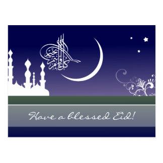 Postal Saludo árabe islámico de Eid Adha Fitr de la