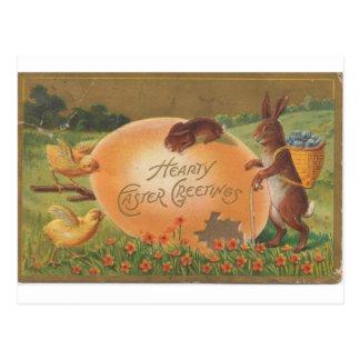 Postal Saludo caluroso 1910 de Pascua del vintage