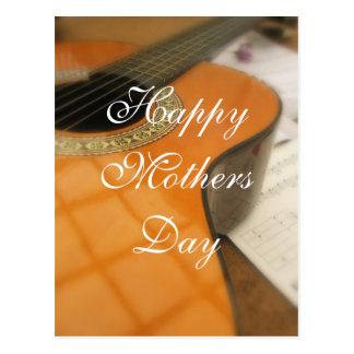 Postal Saludo de la guitarra del día de madres