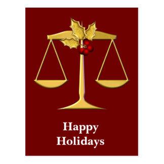 Postal Saludos corporativos legales del navidad