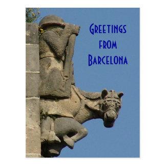 Postal Saludos de Barcelona