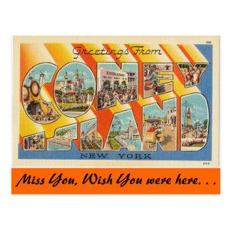 Postal Saludos de Coney Island