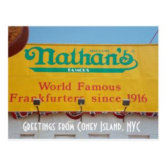 Postal Saludos de Coney Island, NYC 1
