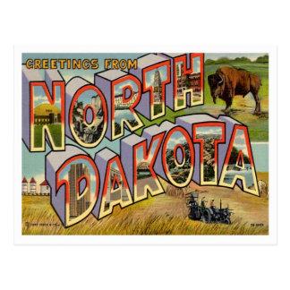 Postal Saludos de Dakota del Norte