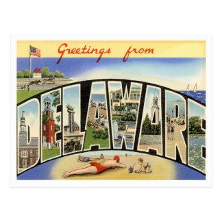 Postal Saludos de Delaware
