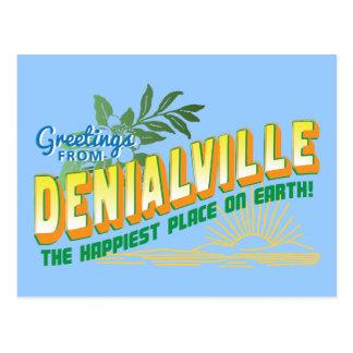 Postal Saludos de Denialville - negación