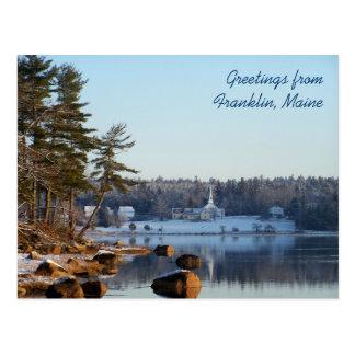 Postal Saludos de Franklin, Maine