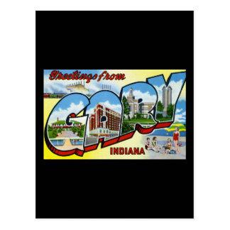 Postal Saludos de Gary Indiana
