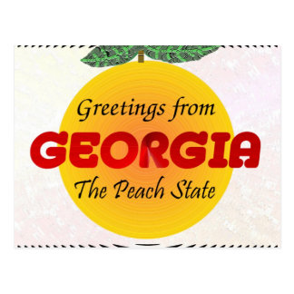 Postal Saludos de Georgia