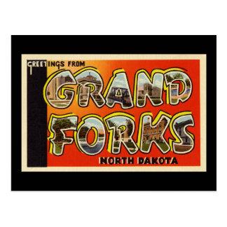 Postal Saludos de Grand Forks Dakota del Norte