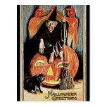 Postal Saludos de Halloween del vintage del KRW