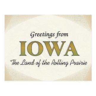 Postal Saludos de Iowa