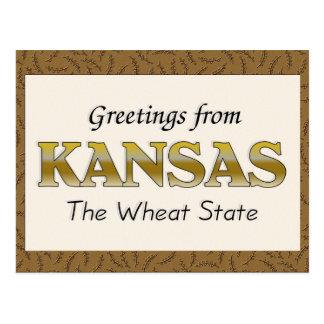 Postal Saludos de Kansas