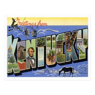 Postal Saludos de Kentucky