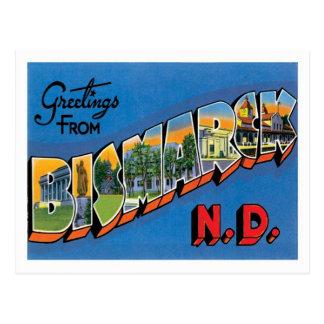Postal Saludos de la ciudad de Bismarck Dakota del Norte