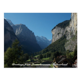 Postal Saludos de Lauterbrunnen, Suiza 1