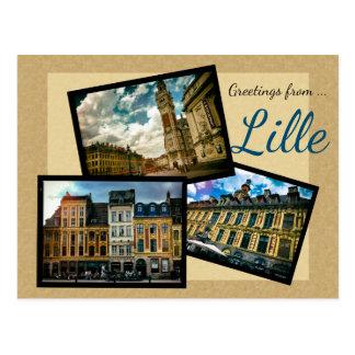 Postal Saludos de Lille