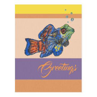 Postal Saludos de Mandarinfish