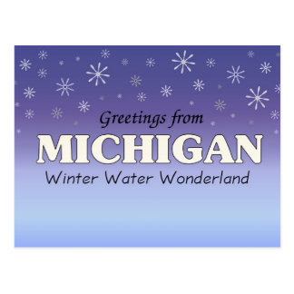 Postal Saludos de Michigan